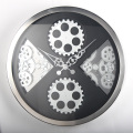 Wall Hanging Black Gear Wall Clock for Decoration
