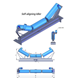 Belt Conveyor Self-aligning Idler Spare Parts