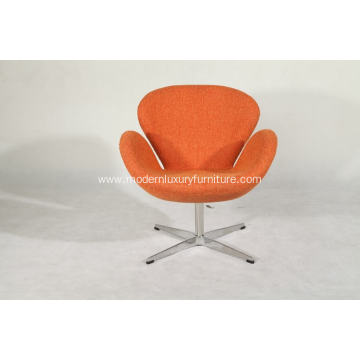 OEM China High quality for Fabric Wooden Lounge Chairs swan chair in woolen fabric supply to Spain Factories