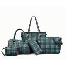 Fashion 4pcs lattice set lady Hand Bag