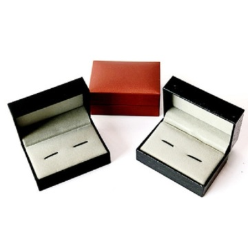 leather paper cufflinks box for ring packing