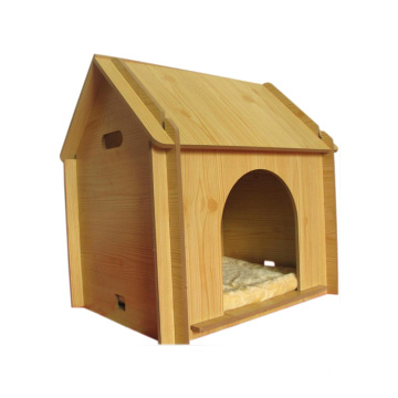 Indoor Eco-friendly Pine wood doghouse