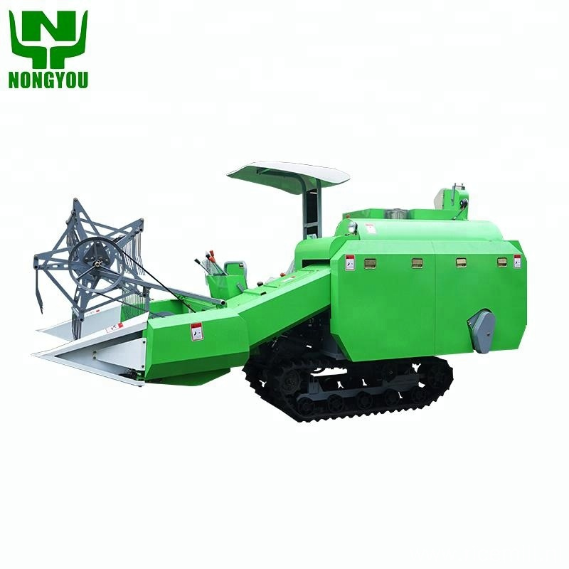 Mini wheat combine harvester