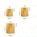 Wholesale 100g 50g 30g Environmental empty full cover bamboo cream jars with glass inner and PP hand pads