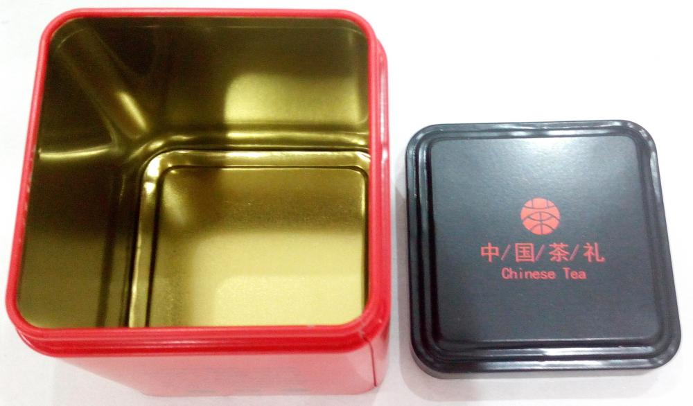 Red Colour TeaTin Box with Black lid