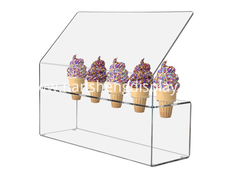 acrylic ice cream cone display
