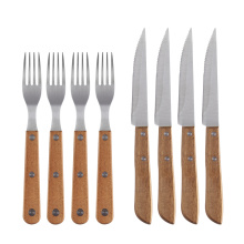 OEM/ODM for Stainless Steel Knife Wooden Handle Steak Knife and Fork for Restaurants supply to Armenia Manufacturer