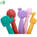 BPA Free Animal Soft Silicone Spoon for Baby