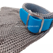 5 Finger Metal Mesh Glove with Plastic Strap