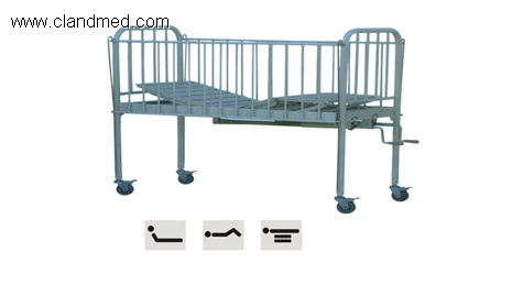Spray three-folding children bed
