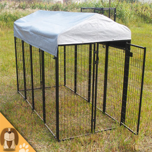 Durable metal welded pet dog kennel crate