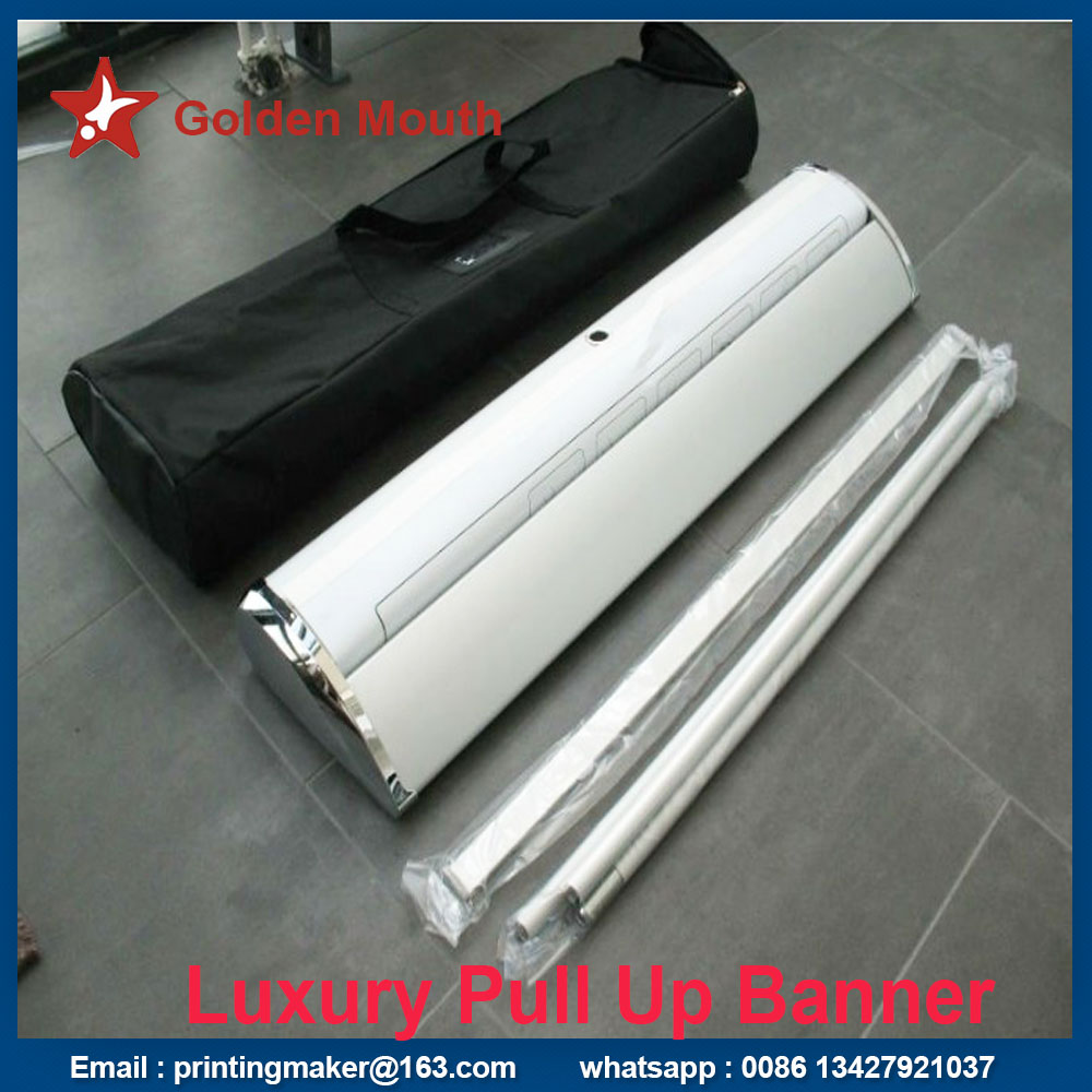 luxury aluminum pull up stand