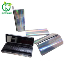 Cosmetic packaging box for eyeshadow with tinplate