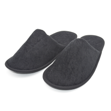 Black terry slipper close toe with EVA sole