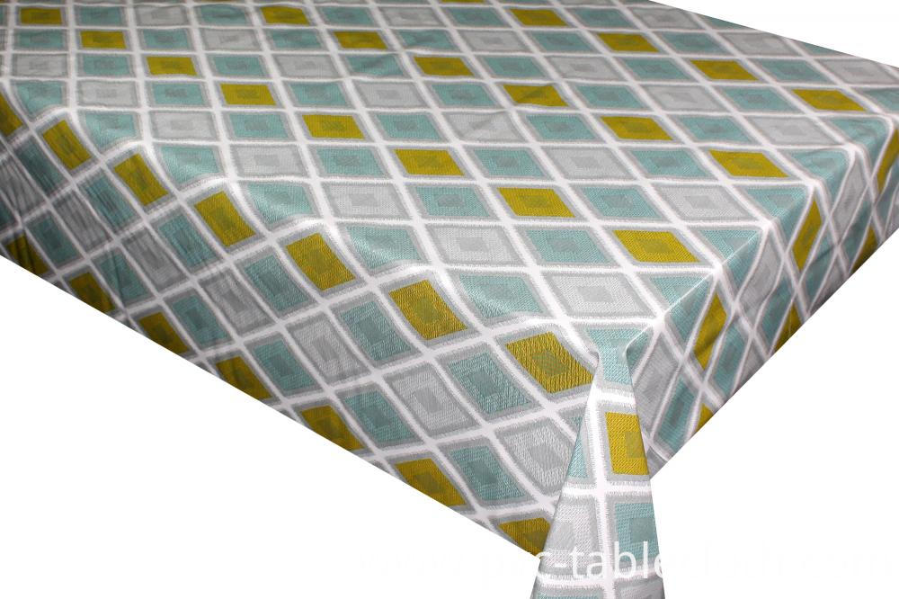 Printed tablecloth with backing
