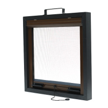 Retractable Screen window 130*160 White PVC Frame