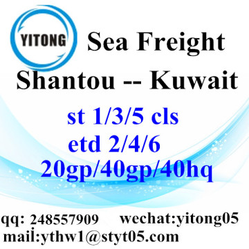 Shantou Ocean Fregiht Shipping Services to Kuwait