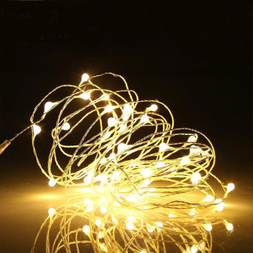 Warm White Copper Wire Starry LED String Lights