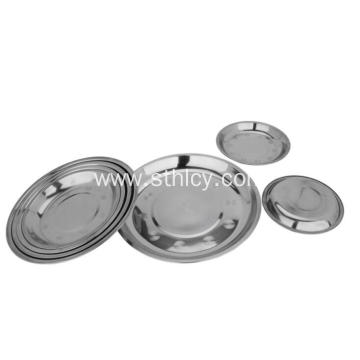 Stainless Steel Plate Metal Dish Set