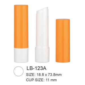 Empty Plastic Round Lip Balm Tube