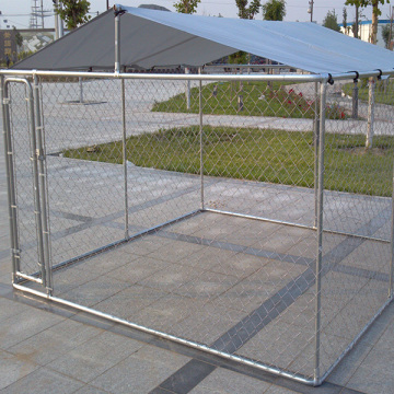 Galvanised Steel Chain Link Mesh Dog Kennel Enclosure