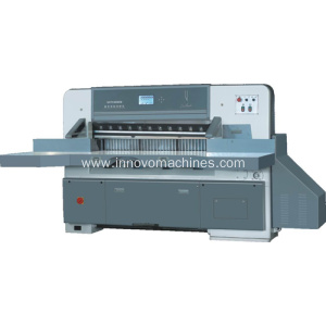 Innovo digital display single hydraulic double guide paper cutting machine