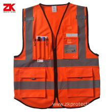 High visibility EN471 reflective safety vest