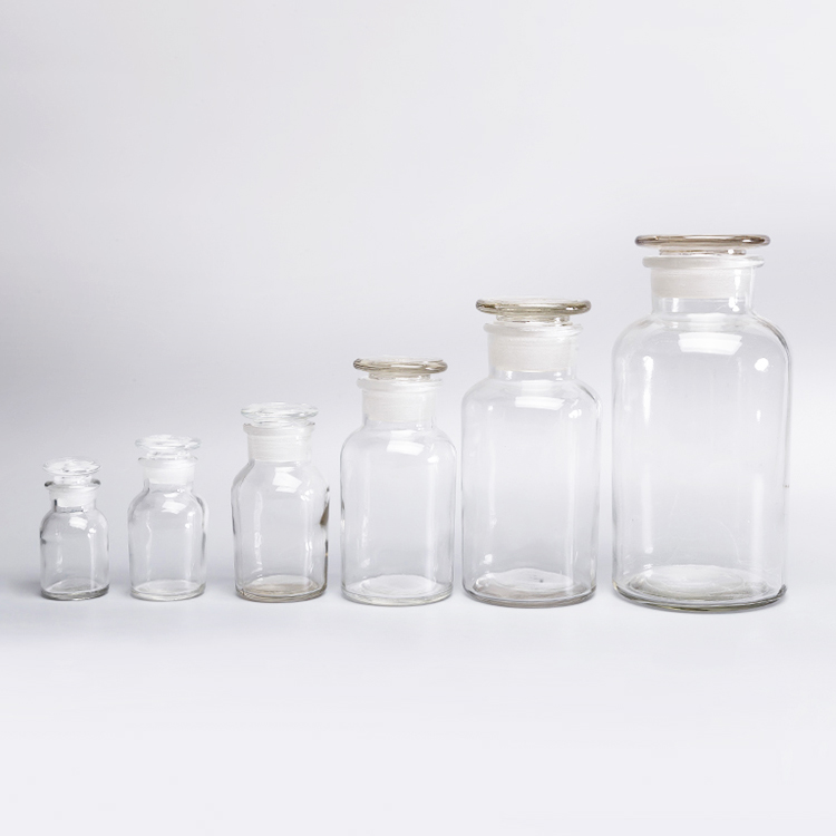 Transparent Glass Reagent Bottle