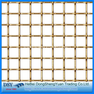 Decoration SUS304 Stainless Steel Wire Screen Crimped Mesh