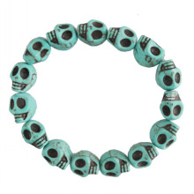 Big Discount for China Bead Bracelets,Gemstone Bead Bracelets,Amethyst Bead Bracelet Manufacturer Mens stretch turquoise skull bracelet export to Portugal Wholesale