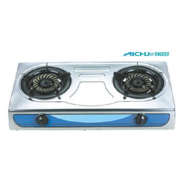 Two Burners Gas Stove Stainless Steel