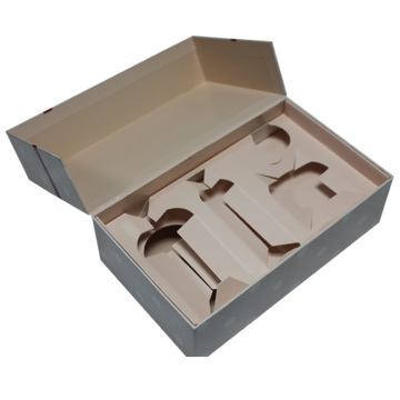 Cosmetic box set packaging with paper tray