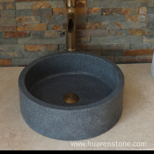 Best Quality for Marble Sink Vanity G654 dark grey granite round sink export to Netherlands Manufacturer