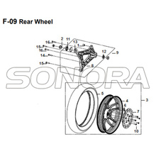 F-09 Rear Wheel for XS175T SYMPHONY ST 200i Spare Part Top Quality