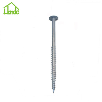 Ground Screw Piles  with Round Plate