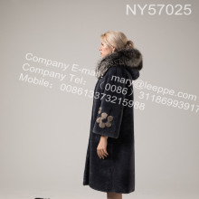 Australia Merino Shearling Long Coat For Lady