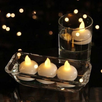 LED Floating Tea Waterproof Decoration Flameless Candles