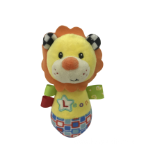 Yellow Lion Rattle Baby Toy