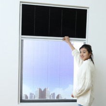 pleated screen window with plastic accessories cord close