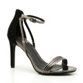 Silver Strappy Heel Shoes for Ladies