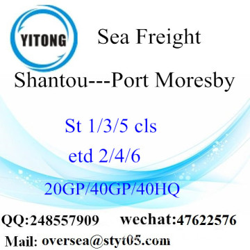 Shenzhen Port Sea Freight Shipping To Port Moresby