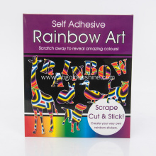 Self Adhesive Scratch Art Stickers