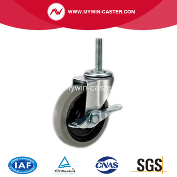 2.5'' Thread Stem TPR Light Duty Industrial Caster with side brake