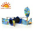 Colourful Bridge Tube Outdoor Playground Equipment For Children