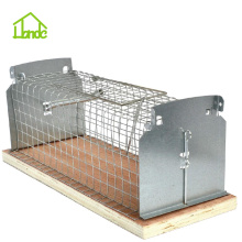 Europe style for Small Cage Trap,Metal Rat Trap Cage,Humane Small Animal Traps,Outdoor Mouse Traps Manufacturers and Suppliers in China Humane Rat Trap Cage With Wooden Base supply to Bolivia Factories