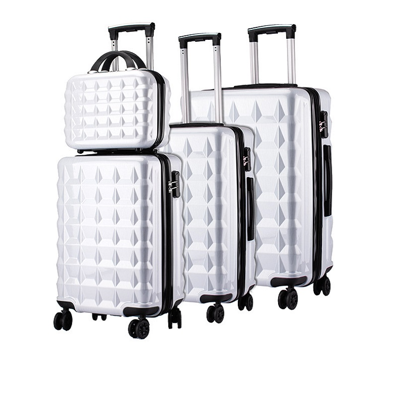White Luggage Set
