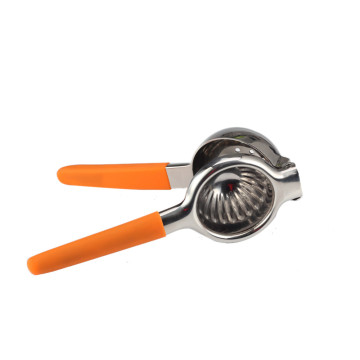 Stainless Steel Lemon Squeezer with Silicone Handles