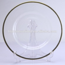 Fast Delivery for Gold Charger Plates Gold Rim Glass Charger Plate export to South Korea Manufacturers
