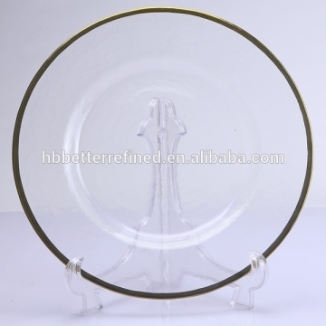 Best Quality for Charger Plates Gold Rim Glass Charger Plate export to Burkina Faso Manufacturers