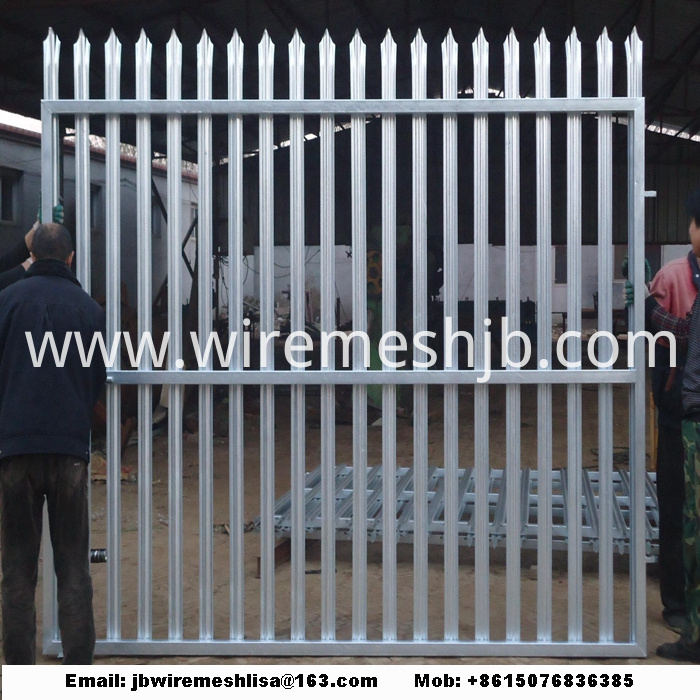W Shape Powder Coated Palisade Fence Panels
